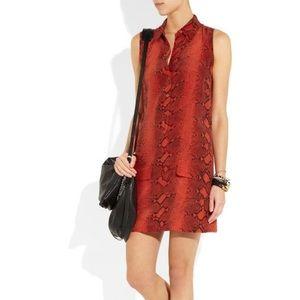 Equipment Lucida Python Print Silk Shirt Dress